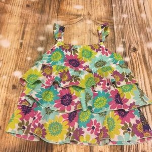 Bright Floral Tiered Top